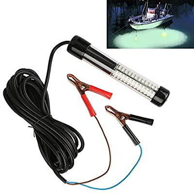 Goture 12V 10.8w 180 LEDs Submersible Fishing Light With 5m/12m Cord – White, Blue, Green