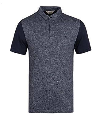 Plain Marl Polo Shirt 6278 Dark Sapphire Navy Dark Sapphire
