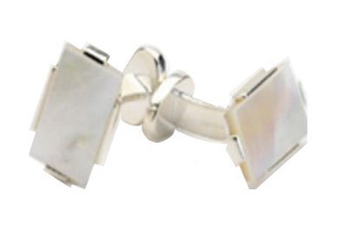 Robert Talbott Mother of Pearl Plate .925 Sterling Silver Cufflinks