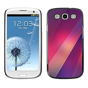 All Phone Most Case / Hard PC Metal piece Shell Slim Cover Protective Case Carcasa Funda Caso de protección para Samsung Galaxy S3 I9300 lines red purple lights pattern blurry