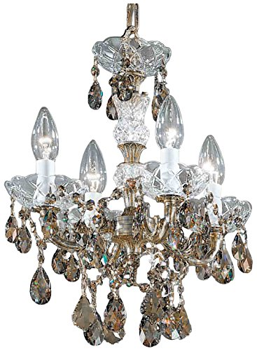Classic Lighting 5544 RB SGT Madrid Imperial, Crystal Cast Brass, Mini-Chandelier, 13