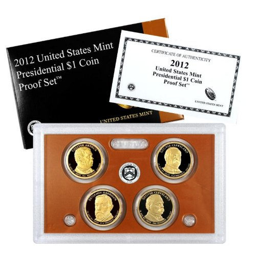 2012 S 4pc Presidential Dollars Proof Set Set Uncirculated
