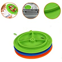 Silicone Placemats,Elevin(TM)2017Lovely Baby Toddler Kids Home Party Silicone Placemat Kitchen Dining Plate Dish Food Table Pad Mats Tablemat Tablecovers (Green)