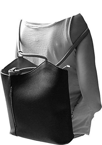 à femme Glattleder Made au main dos Sac Dunkelblau in porté Italy FreyFashion pour wIqPCnvv