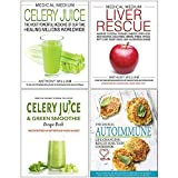 img - for Medical Medium Celery Juice [Hardcover], Medical Medium Liver Rescue [Hardcover], Celery Juice & Green Smoothie Recipe Book, Medical Autoimmune 4 Books Collection Set book / textbook / text book