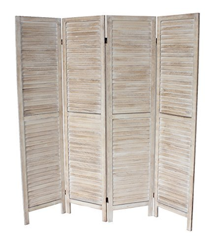 Milton Greens Stars Finn Standard 4-Panel Room Divider, Natural by Milton Greens Stars