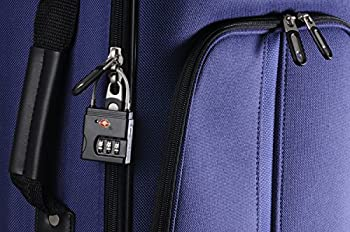 Brinks 165-25105 25mm Zinc Resettable Combination TSA Padlock with Cable, Black