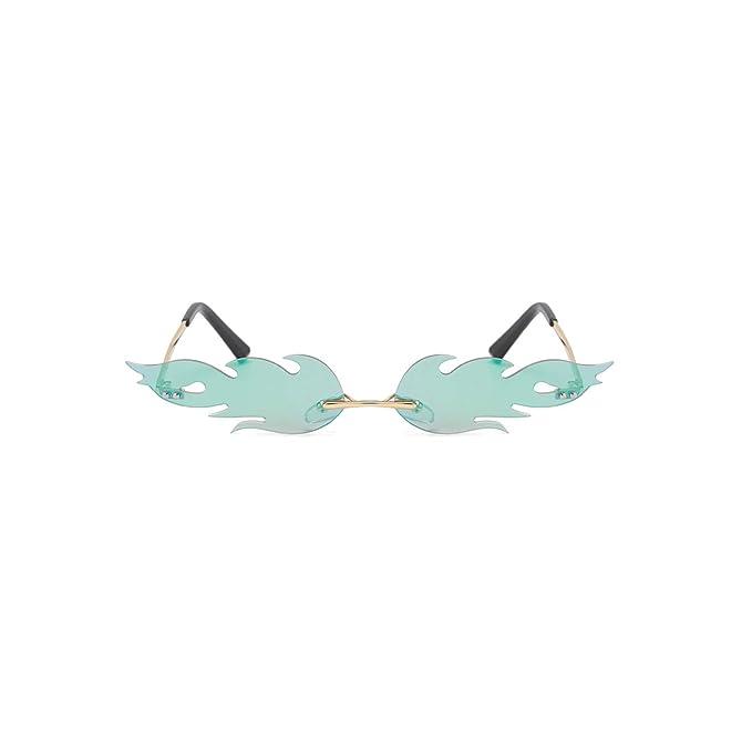 Amazon.com: Gafas de sol para mujer y hombre, sin bordes ...