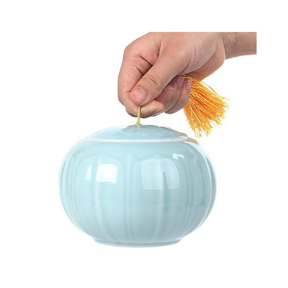 bluee Boyuanweiye Pet Urn, Honey and Kin Pet Pet Cremation Cylinder Souvenirs, (bluee and White) Good Material (color   bluee)