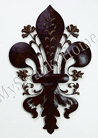 French 39u0026quot; FLEUR DE LIS Metal Wall Art   Indoor Or Outdoor