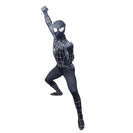 KOUYNHK Lycra Traje De Spiderman Negro Niños Adultos Niño ...