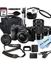 $1188 » Sony Alpha a6100 Mirrorless Digital Camera with 16-50mm and 55-210mm Lenses+ 32GB Card, Tripod, Case, and More (18pc Bundle)