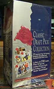 1991 Classic Draft Pick Collection Hobby Box (Four Sport