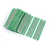 Uxcell a14041800ux1145 25 Piece Double Sided Glass Fiber Prototyping PCB Board 2 cm x 8 cm, 0.79