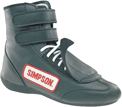 Simpson Racing SP900BK Black Sprint Size 9 SFI Approved Driving Shoes