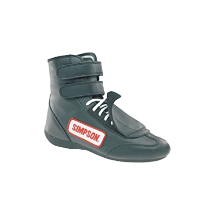 Simpson Racing Shoes >> Simpson Racing Sp100bk Black Sprint Size 10 Sfi Approved Driving Shoes