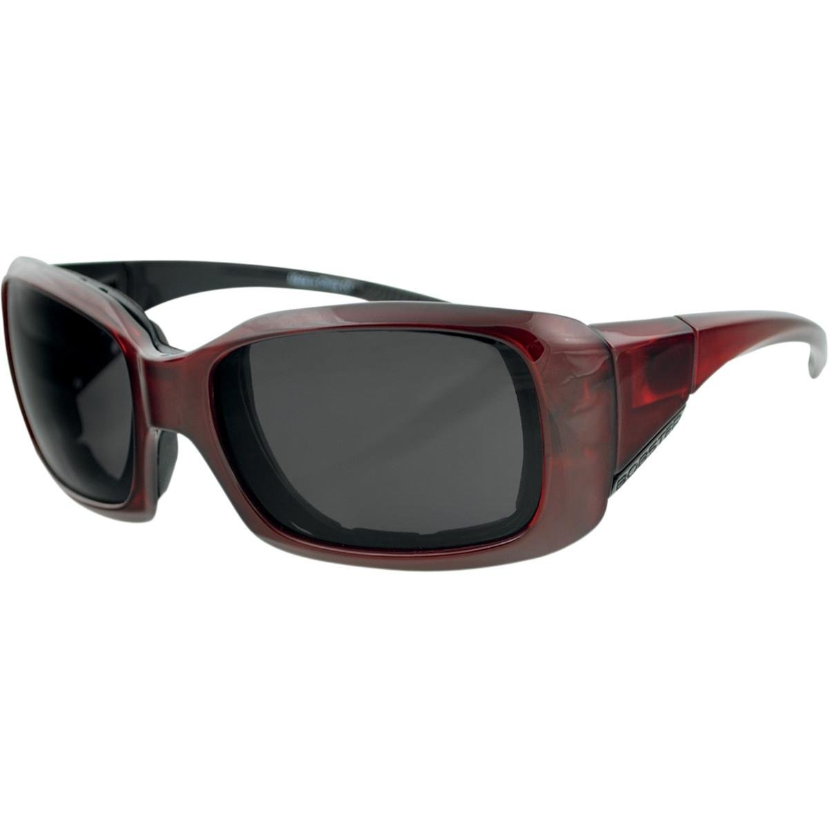 Bobster Ava Convertible Sunglasses, Red Frame, Anti-fog Smoked Lens