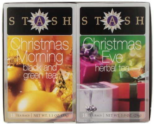 Christmas Eve & Christmas Morning Gift Set Stash Tea 18 +18