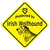 KC Creations Irish Wolfhound Protected By Dog Sign And Caution Gift