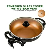 Ovente Electric Skillet 13 Inch with Non Stick