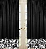 Sweet Jojo Designs 2-Piece Black and White Isabella Window Treatment Panels