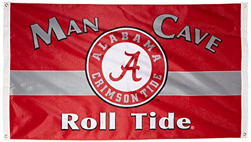 NCAA Alabama Crimson Tide Man Cave Flag with 4 Grommets (3 x 5-Feet) ()