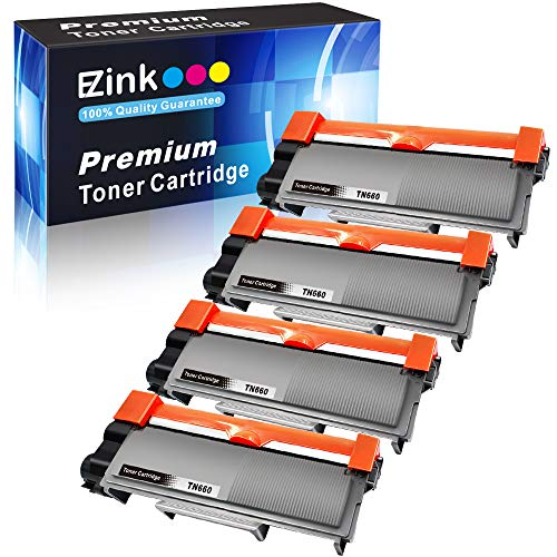 E-Z Ink (TM) Compatible Toner Cartridge Replacement for Brother TN630 TN660 High Yield (4 Black) Compatible With HL-L2300D DCP-L2520DW DCP-L2540DW HL-L2360DW HL-L2320D HL-L2380DW MFC-L2707DW Printer by E-Z Ink
