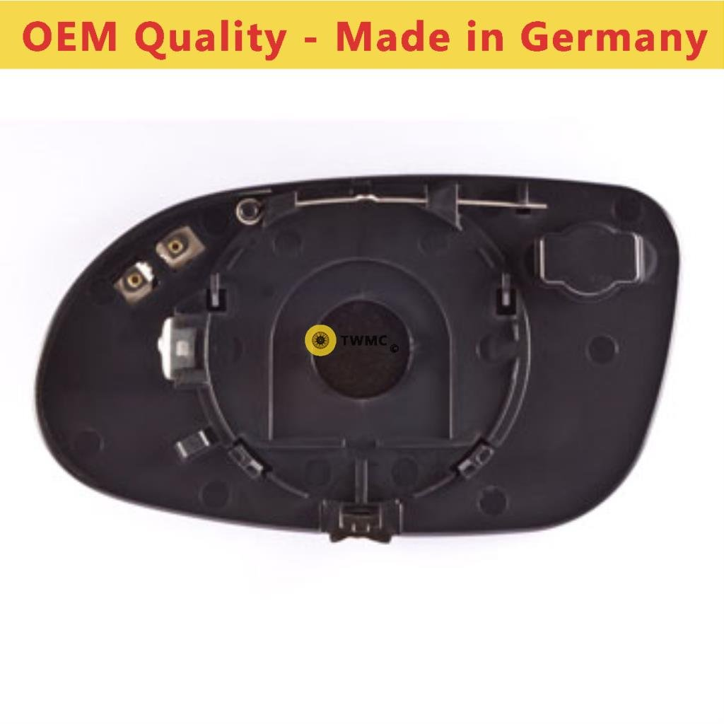 Driver Side MEA Class 1998 to 2005 Heated Silver Wide Angle Door Mirror Glass Including Base Plate RH
