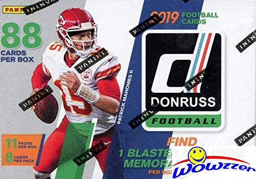 2019 Donruss NFL Football EXCLUSIVE HUGE Factory Sealed Retail Box with MEMORABILIA Card & 11 RATED ROOKIES! Look for RC & Autos of Kyler Murray, Daniel Jones, Dwayne Hoskins,Drew Lock & More! WOWZZER (Football Memorabilia)