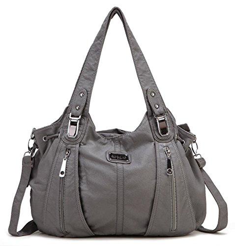 Scarleton Center Zip Shoulder Bag H147424 - Ash