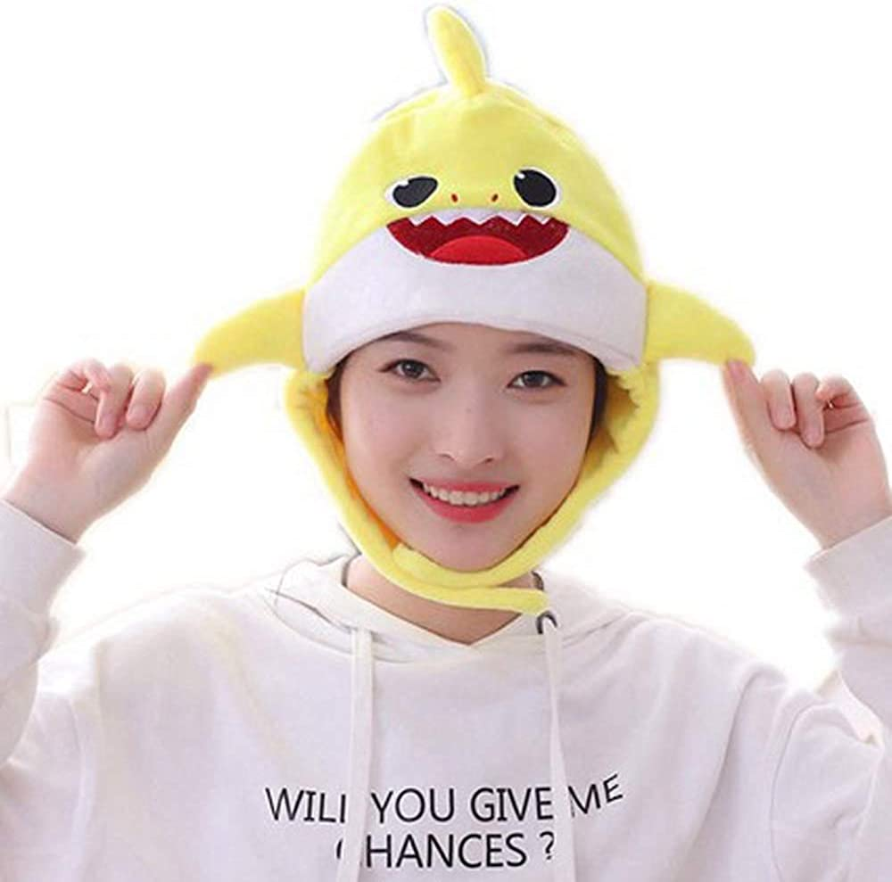 Baby Shark Hat Costume Party Hats Winter for Women, Mommy Sharks, Daddy Sharks Plush Fun Animal