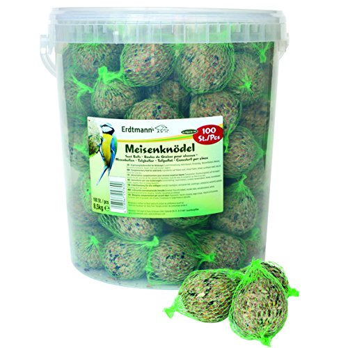 Feeder Round Tub (Erdtmanns Suet Balls, Netted, In Tub (Pack Of 100))