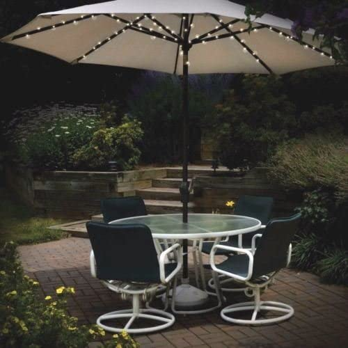 72 LED funciona con energía solar luz de jardín Parasol de varilla de 8 luces de hadas cadena nuevo: Amazon.es: Jardín