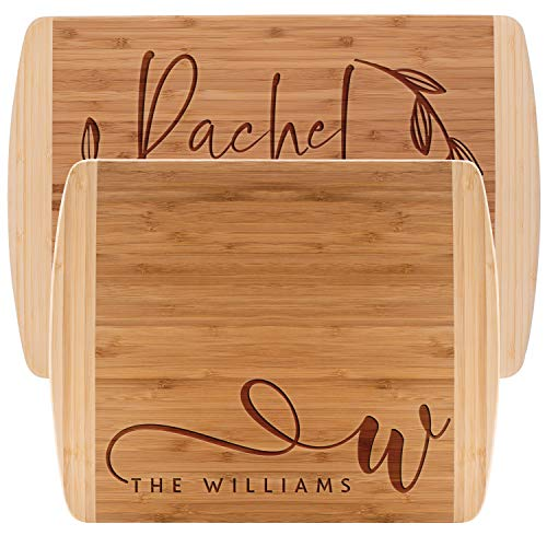 Personalized Cutting Board, 2 SIZES - Bamboo Cutting Board - Personalized Gifts - Wedding Gifts for the Couple, Engagement Gifts, Gift for Parents, Custom Gifts]()