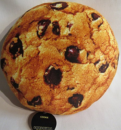 EXPRESSIONS Fun and Soft Novelty Food Throw Pillows Chocolate Chip Cookie