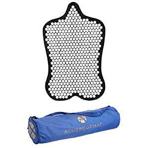 Acuswede Pain Relief & Muscle Recovery Acupressure Mat- Most Effective Professional Grade w/ 14,000 points/ Flexible Material/ Large Surface (Carry Bag Included)