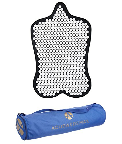 Acuswede Muscle Recovery and Pain Relief Acupressure Mat- Professional Grade w/ 14,000 points | Large Surface Provides Deep Muscle Recovery (Carry Bag Included) by Acuswede