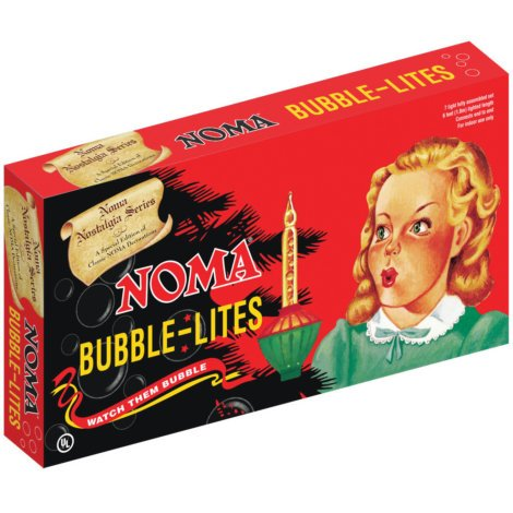 Noma Bubble Lite Set of 7 Vintage Special Edition Christmas Lights (Bubble Light Candelabra)