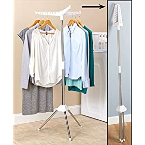 Foldable Drying Rack Laundry Clothing Stand Collapsible Portable Small Air Dry (1 Tier)