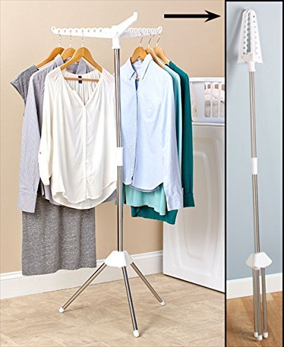 Foldable Drying Rack Laundry Clothing Stand Collapsible Port