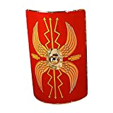 Roman Shield scutum 42'' x 24'' Brass Lined - One Size - Red Armour