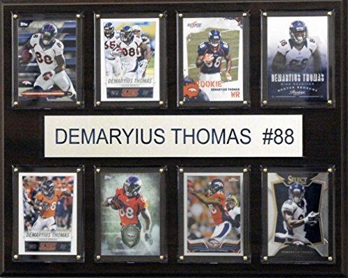 NFL Denver Broncos Demaryius Thomas 8-Card Plaque, 12 x 15-Inch, Brown