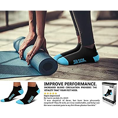 Amazon.com : SB SOX Lite Plantar Fasciitis Socks for Men & Women (2 Pairs) – Provide Relief for Light to Moderate Plantar Fasciitis, Heel Pain – Perfect for Running, Cycling, Sports, Travel, Daily Use : Clothing