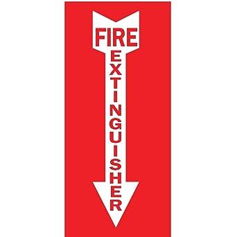 Amazon.com: ZING 1885 Zing Señal de seguridad, extintor de ...