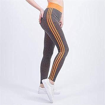 Pantalones de Yoga,Leggings,Fitness Mujer Delgada Rayada ...