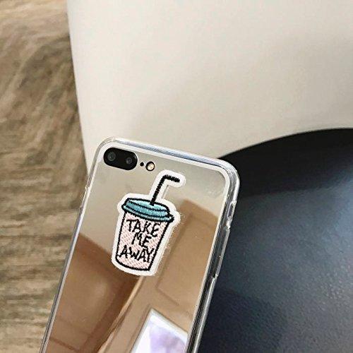 Hülle für iPhone 7 plus , Schutzhülle Für iPhone 7 Plus-Spiegel-Stickerei-Getränk-Flasche Voller Abdeckung Shockproof schützender rückseitiger Abdeckungs-Fall ,hülle für iPhone 7 plus , case for iphon