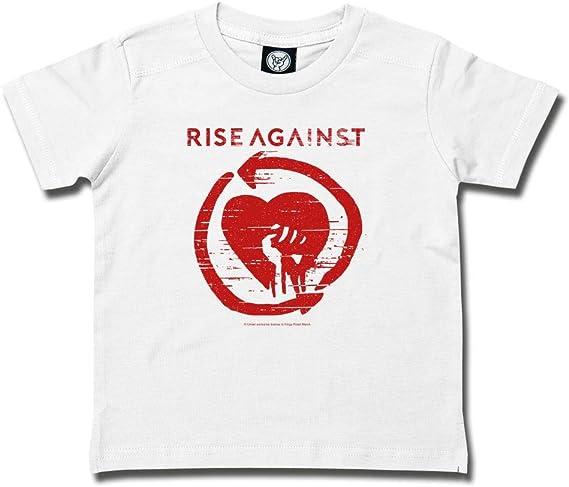 - Baby T-Shirt 3 bis 18 Monate mehrere Farben offizielles Band-Merch Heartfist Metal Kids Rise Against Gr/ö/ßen von 62 bis 80