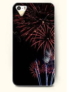 OOFIT Phone Case Design with Red Fireworks for Apple iPhone 4 4s 4g