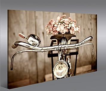 bild bilder auf leinwand sepia fahrrad 1p xxl poster leinwandbild ... - Leinwandbilder Für Küche