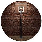 Best basketball hoop measurement - Round Rug Mat Carpet,Sports Decor,Old Brick Wall Review